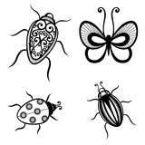 Vector Set of Insects Stock Photos