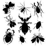 Vector Set of Insects Royalty Free Stock Photography