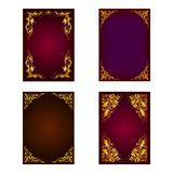 Vector set of invitation card Royalty Free Stock Image