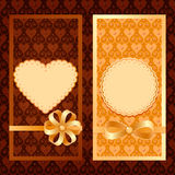 Vector set of invitation cards. Vector set of luxury vertical invitation cards Stock Photo