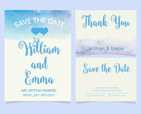 Vector set of invitation cards Stock Images