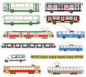 Vector set of isolated public transport Royalty Free Stock Photos