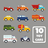 Vector set of the isolated transport icons. Stock Photos