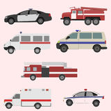 Vector set of the isolated transport icons. Vector illustration Stock Photography