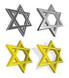 Vector set of Jewish stars Stock Photos