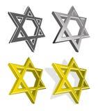Vector set of Jewish stars Stock Photos