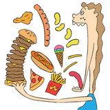 Vector set junk food. Eat Royalty Free Stock Images