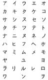 Vector Set of Katakana Symbols. Japan Alphabet. Stock Images