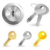 Vector set with keys and lock Royalty Free Stock Images