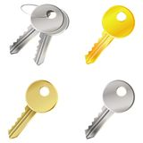 Vector set with keys - safety concept Royalty Free Stock Photo
