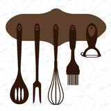 Vector set of kitchen tools Royalty Free Stock Images