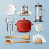 Set of kitchenware Stock Photos