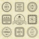 Vector set of labels Stock Image