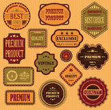 Vector set of labels Royalty Free Stock Images
