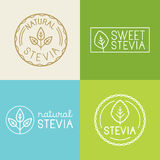 Vector set of labels, badges and design elements for food packag Stock Photo