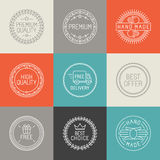 Vector set of labels, badges and emblems Royalty Free Stock Photos