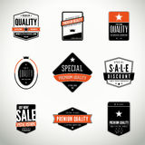 Vector set with labels and badges Royalty Free Stock Photos