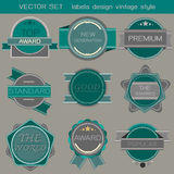 Vector set labels design vintage style Stock Photography