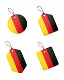 Vector set of labels with germany flag Stock Photos