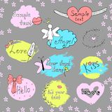 Vector set of labels. Hand drawn lettering.  Royalty Free Stock Images