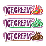 Vector set labels for Ice Cream Stock Image