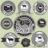 Vector set of labels Sheep and lamb Stock Photo