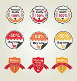 Vector set labels. For shop Royalty Free Stock Photo