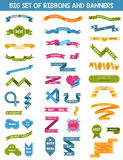 Vector set of labels, stickers and ribbons Stock Photos