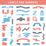 Vector set of labels, stickers and ribbons on a white background Stock Photography