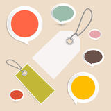 Vector Set of Labels, Tags Royalty Free Stock Photo