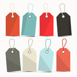 Vector Set of Labels, Tags with Strings Royalty Free Stock Image