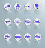 Vector set of labels with transport Royalty Free Stock Image