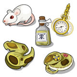 Vector set of laboratory tests and hypnosis Stock Photo