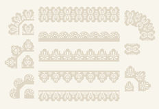 Vector Set of lace ribbons Royalty Free Stock Photos