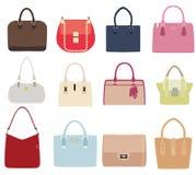 Vector Set Of Ladies Handbags Royalty Free Stock Images