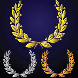 vector Set of laurel wreaths stock illustration