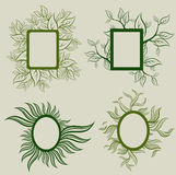 Vector set of leafs frames Royalty Free Stock Image