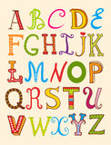 Vector set of letters. Stock Photography