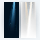 Vector set of light beams background Royalty Free Stock Photography