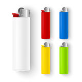 Vector set of lighters Stock Image