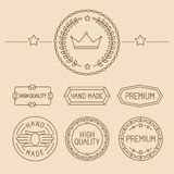Vector set of line badges and logos Royalty Free Stock Photo