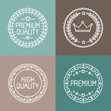 Vector set of line badges and logos Royalty Free Stock Photography