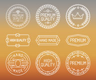 Vector set of line badges and logos Stock Photography