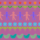 Vector set of line decorations Stock Photo