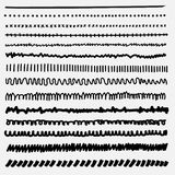 Vector set of line grunge hand drawn textures. Stock Photo