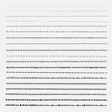 Vector set of line grunge hand drawn textures. Royalty Free Stock Photo