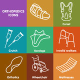 Vector set line icon orthopedic insole Royalty Free Stock Image