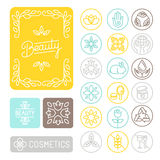 Vector set of linear design elements Stock Images