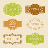 Vector set of linear design elements Stock Photography