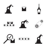 Vector set of linear icons. Stock Photos